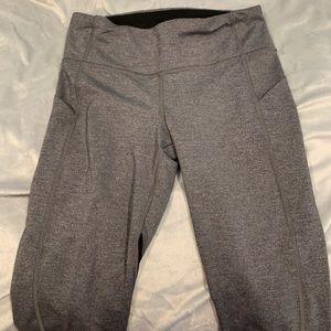 Gray and black Lululemon leggings